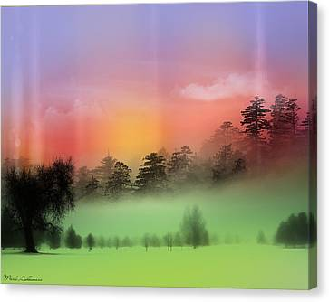 Mist Coloring Day Canvas Print by Mark Ashkenazi