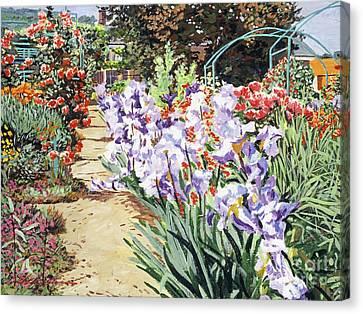 Monet's Garden Walk Canvas Print by David Lloyd Glover