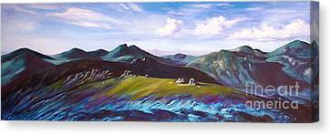 Mourne Mountains 1 Canvas Print by Anne Marie ODriscoll