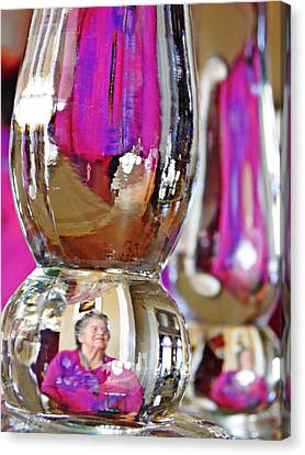 Fuschia Canvas Print -  My Mother In A Candlestick Holder by Sarah Loft