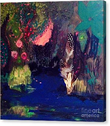 Canvas Print featuring the painting  My Pond by Vanessa Palomino