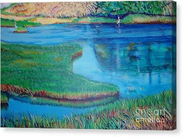 Canvas Print featuring the painting  Myakka Sanctuary by Ecinja Art Works
