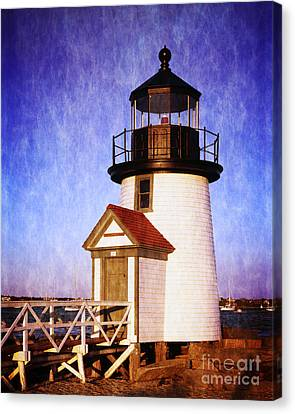 Nantucket Harbor Light House Canvas Print