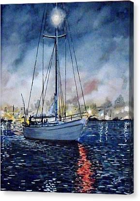 Newport Beach Harbor 4th Of July Canvas Print by John Leclerc