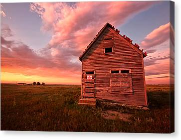 Canvas Print featuring the photograph  No Trespassing by Ronda Kimbrow