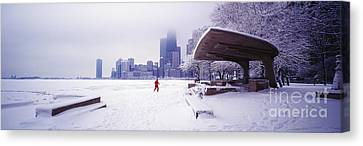 Canvas Print featuring the photograph  North Ave Beach Chess Palv Chicago Lake Front  by Tom Jelen