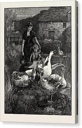 Obstructionists  From The Picture By Yeend King Canvas Print by Litz Collection