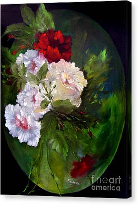 Out Of Frame Canvas Print -  Of Rhapsodies And Roses by Sharon Burger
