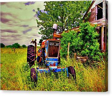 Old Ford Tractor Canvas Print by Savannah Gibbs