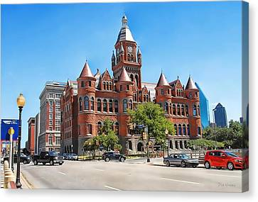 Canvas Print featuring the photograph   Old Red Museum - Dallas  by Dyle   Warren