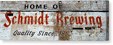 Old Schmidt Brewery  Canvas Print