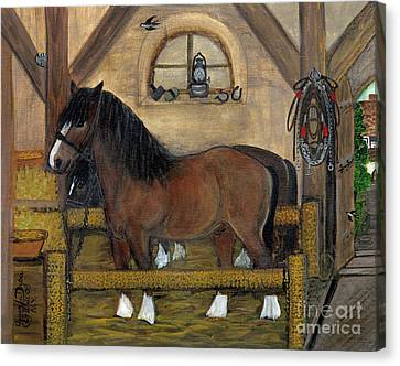 Old Stable Canvas Print by Anna Folkartanna Maciejewska-Dyba