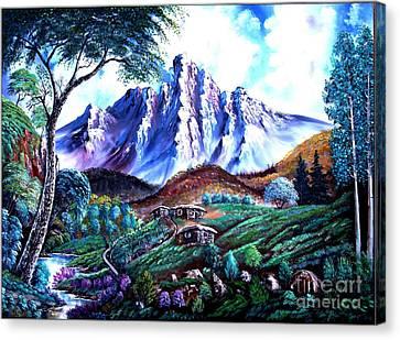 Old Village Canvas Print by Shirwan Ahmed