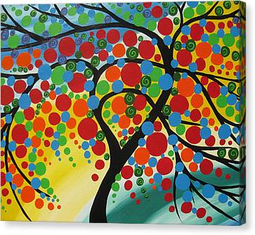 Orb Tree  Canvas Print by Cathy Jacobs