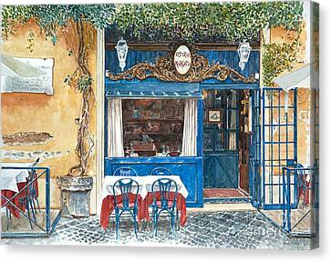 Osteria Margutta Rome Italy Canvas Print by Anthony Butera