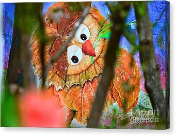 Owl Leaf Forest Canvas Print by Vin Kitayama