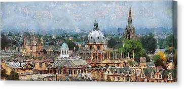 Oxford Panorama Canvas Print