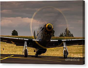 P-51 Ready For Take Off Canvas Print