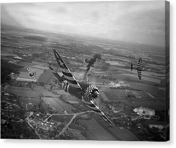 P47 Thunderbolt - D-day Train Busters Canvas Print by Pat Speirs