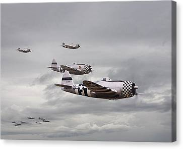 P47 Thunderbolt  Top Cover Canvas Print by Pat Speirs
