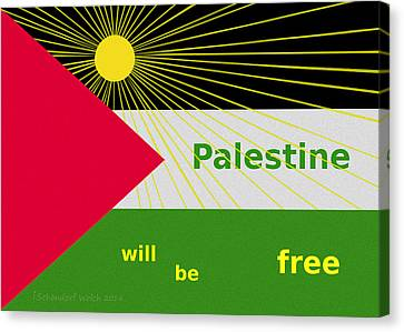 Palestine Will Be Free  - 1035 Canvas Print