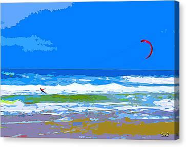 Para-surfer 2p Canvas Print