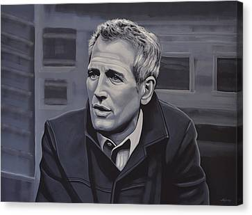 Paul Newman Canvas Print by Paul Meijering