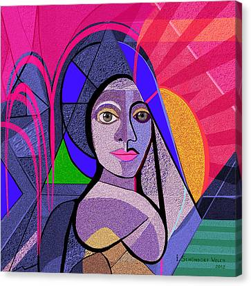 496 - Persephone  Canvas Print by Irmgard Schoendorf Welch