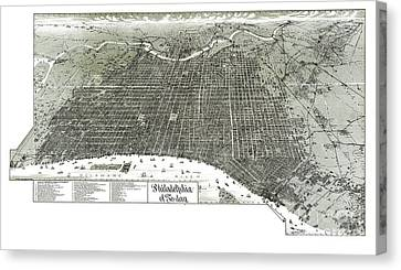 Philadelphia - Pennsylvania - United States - 1887 Canvas Print by Pablo Romero
