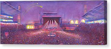 Phish At Dicks Canvas Print by David Sockrider
