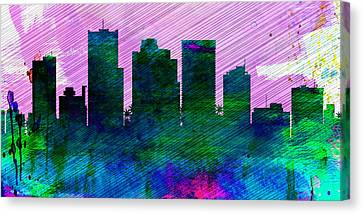 Phoenix City Skyline Canvas Print by Naxart Studio