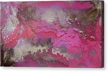 Pink And Gold Abstract Painting Canvas Print