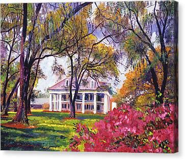 Antebellum Canvas Print -  Plantation Spring by David Lloyd Glover