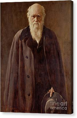 Portrait Of Charles Darwin Canvas Print by John Collier