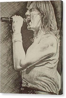 Portrait Of Joe Elliott Canvas Print by Chris Shepherd