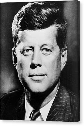 Portrait Of John F. Kennedy  Canvas Print by American Photographer