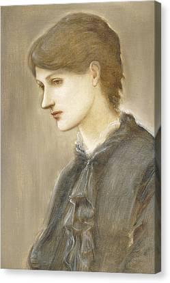 Portrait Of Mrs William J Stillman Nee Marie Spartali Canvas Print by Sir Edward Coley Burne Jones