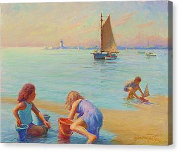 Provincetown Harbor Morning Canvas Print by Ernest Principato