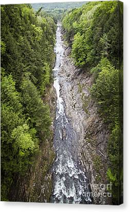 Quechee Gorge Quechee Vermont Canvas Print by Edward Fielding