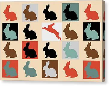 Caricature Canvas Print -  Rabbits by Mark Ashkenazi