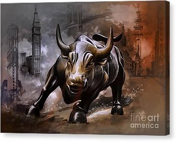 Raging Bull Canvas Print by Andrzej Szczerski