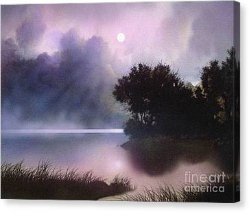 Rain Lake Canvas Print by Robert Foster