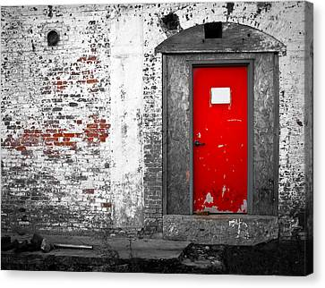 Abandoned Canvas Print -  Red Door Perception by Bob Orsillo
