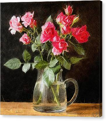 Red Roses Symbol Of Love Canvas Print by Vasiliy Agapov