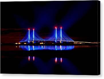 Reflecting Bridge - Indian River Inlet Bridge Canvas Print