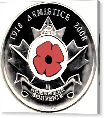 Remember Armistice Jour Du Souvenir  Canvas Print
