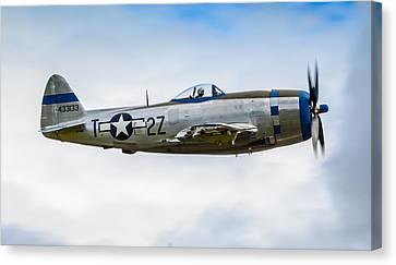 Republic P-47d Thunderbolt Canvas Print by Puget  Exposure