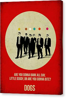 Reservoir Dogs Poster Canvas Print by Naxart Studio