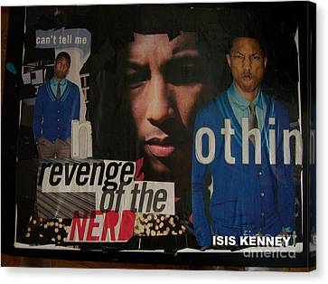 Revenge Of The Nerd Pharrell Williams Canvas Print by Isis Kenney