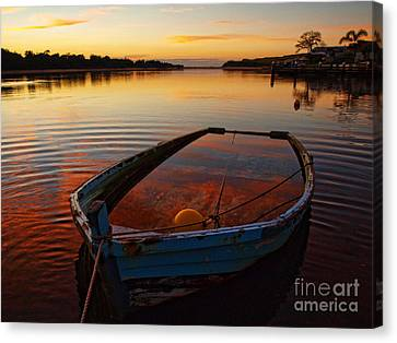 Canvas Print featuring the photograph  Ripples by Trena Mara